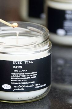The Dusk Till Dawn is a part of our growing book collection and is inspired by the Twilight Saga. This seductive unisex scent is a blend of fresh cotton, white blossoms, cashmere, amber, musk & patchouli. #SoyCandle #Handmade