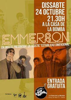 @Emmerson el sábado 24 en #LaCasadelaBomba, con @ipopbroadcast y @indiesdeponent