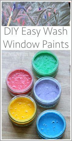 DIY washable window paint recipe