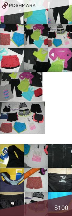 20 Pc Athletic,Running,Workout Lot Clothes S/M WOW 20 Piece Running, Athletic, Workout Lot This is Womens SM/MED Nike, Under Armour, Champion, Adidas, Avia & More NWT Sports Bras, Shorts-Some NEW,Tops and MORE - Over $300 in apparel NOT all is New. However everything is in GOOD CLEAN NICE WASHED and Immediately ready to wear upon Arrival Condition If you have ANY ???,Please ask - This is a KILLER lot for any runner, gym rat, yoga, Etc! See ALL large 8 Photos!!  Check out MY CLOSET....I just…