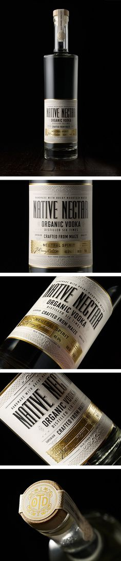 Label / vodka / Native Nectar by Chad Michael
