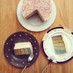 Rainbow Pastel Sprinkle Cake