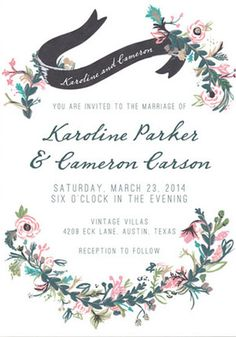 Floral Hand Painted Wedding Invitations | Green Wedding Shoes Wedding Blog | Wedding Trends for Stylish + Creative Brides