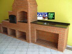 7 GRILL CHURRASQUEIRAS - SUA VARANDA GOURMET Brick Bbq, Outdoor Kitchen Design, Outdoor Furniture, Outdoor Decor, Diy Home Decor, Gazebo, Sweet Home, Architecture, Storage