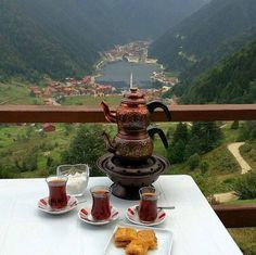 lNorth of Iran, Mountain Skirts and an exquisite traditional tea in a summer afternoon. Everyone's welcomed with Iranian hospitality - M