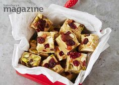 10-minute fruit and nut fudge from Emma Franklin at Sainsbury's magazine: but to give it away as a Christmas present or eat it as a treat?