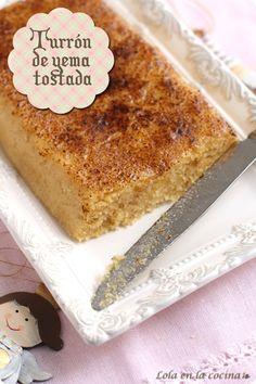 turron de yema tostada Baking Recipes, Cake Recipes, Dessert Recipes, Cuban Recipes, Sweet Recipes, Banana Colada, Spanish Dishes, Cake Truffles, Xmas Food