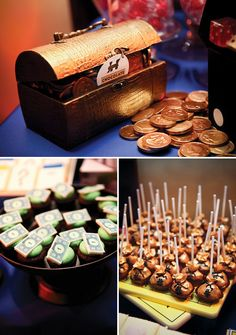 Amazing Monopoly First Birthday Party, really clever placards and money bags for vases.