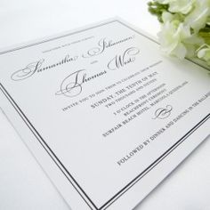 navy and gold sophisticated wedding invitations printed on luxury