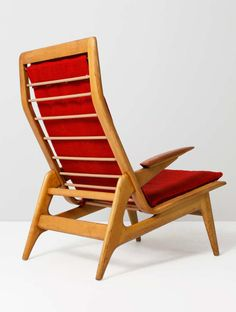 Anonymous; Teak and Beech Lounge Chair, 1950s.