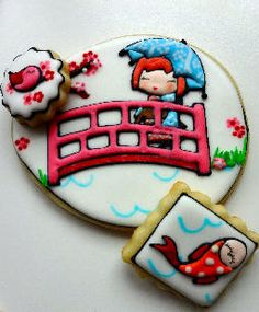 These are so adorable!! --Japanese Kokeshi #Cookies by ThatBakingGirl.com