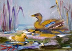 Ducks, painting by artist Delilah Smith