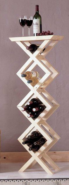 40 fantastiche immagini su portabottiglie per vino fai da for Portabottiglie vino fai da te