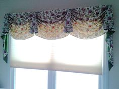 "Many variations can be done. this client wanted a ""light"" look for the room. The valance could be hung lower or raised, even made of a different thickness of material - all give a different effect."