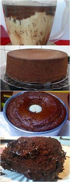 .BOLO DE CHOCOLATE DE LIQUIDIFICADOR…SUPER FÁCIL!! VEJA AQUI>>>Coloque no liquidificador o óleo, o leite, os ovos, o chocolate e o açúcar. Bata bem até ficar misturado. Acrescente a farinha de trigo e bata novamente (não precisa bater muito, só até misturar). #receita#bolo#torta#doce#sobremesa#aniversario#pudim#mousse#pave#Cheesecake#chocolate#confeitaria Sweet Recipes, Cake Recipes, Dessert Recipes, Cake Cookies, Cupcake Cakes, Food Wishes, Icebox Cake, Bread Cake, Chocolate Recipes