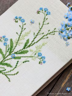 Forget Me Not Cross-stitch Pattern