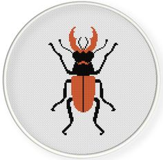 Instant download,free shipping,Cross stitch pattern, PDF, beetle ,ZXXC0581