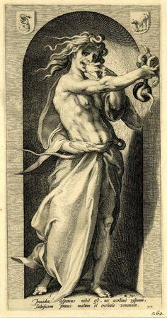 Hendrick Goltzius (Dutch, 1558-1617) The Vices. Envy (Пороки. Зависть). 1593 г. The British Museum, London
