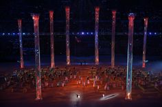 Dancers perform Natasha Rostova's First Ball during the Opening Ceremony of the Sochi 2014 Winter Olympics at Fisht Olympic Stadium on Febru...