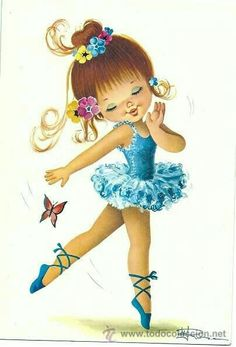 Bailarinas Vintage Pictures, Vintage Images, Vintage Art, Baby Painting, Fabric Painting, Cute Images, Cute Pictures, Ballerina Art, Baby Clip Art