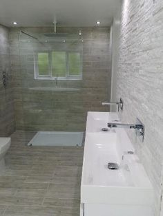 #VPShareYourStyle This minimalist design shows how amazing a walk in shower looks in a spacious bathroom by Rachel from Wrexham