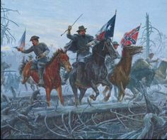 """Fight at Fallen Timbers, The Col. N.B. Forrest and Capt. John Hunt Morgan Shiloh April 8, 1862. By Mort Kuenstler Mort Künstler's Comments: In reading the book """"First with the Most"""" Forrest, by Robert Selph Henry, I was searching for a moment that would typify the audacity and man of action that was Nathan Bedford Forrest. I did not have to search long. On Tuesday, April 8, 1862, to be exact, at the Battle of Shiloh, events took place that were so exciting and action packed as to defy…"""