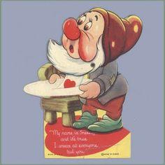 Vintage Valentine Museum: Walt Disney Studios - Cartoon Character Valentine Cards