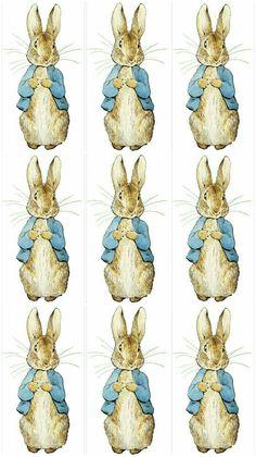 Set of 5 Beatrix Potter Peter Rabbit Digital Collage Peter Rabbit Cake, Peter Rabbit Birthday, Peter Rabbit Party, Coelho Peter, Peter Rabbit Nursery, Peter Rabbit And Friends, Baby Girl Scrapbook, Rabbit Illustration, Rabbit Baby