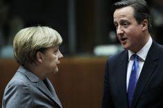 Ende der Freiheit: Polizei-Staat in Europa nimmt gespenstische Form an Die freiheitlichen Bürgerrechte werden beschnitten: David Cameron, hier mit Angela Merkel, beim EU-Gipfel in Brüssel im Februar. (Foto: dpa)