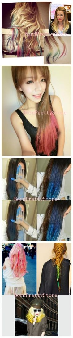 $0.99 1pc Fashion Fast Easy Temporary Color Hair Dye Crayon Chalk- 24 Colors - BornPrettyStore.com