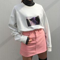 Wanderlust skortgorl: mixxmix_live my style корейская мода, Korean Fashion Trends, Asian Fashion, Look Fashion, 90s Fashion, Street Fashion, Fashion Outfits, Womens Fashion, Fashion Tips, Grunge Fashion