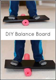 How to make a balance board for kids using a pool noodle from And Next Comes L board DIY Pool Noodle Balance Board Movement Activities, Gross Motor Activities, Gross Motor Skills, Sensory Activities, Therapy Activities, Preschool Activities, Autism Sensory, Physical Activities, Preschool Circus