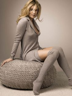 Doutzen Kroes is so soft and sexy for Repeat's winter collection Doutzen Kroes, Modelos Victoria Secret, Fashion Photography Art, Socks Outfit, Glamour, Sensual, Lounge Wear, Ideias Fashion, Style Me