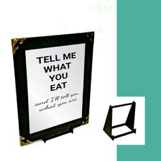 Online Shopping Perfect Gift Stylish Mirror Height: Width: To suit your needs, Package Includes; 4 x 4 Strong Self-Adhesive Hook & Loops; Custom Made Stand. Kitchen Quotes, Wall Hanger, Mirrors, Adhesive, Gifts, Presents, Cooking Quotes, Favors, Mirror