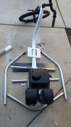 Tricycle Bike, Trike Bicycle, Trike Motorcycle, Gas Powered Bicycle, Gas Powered Drift Trike, Go Kart Frame Plans, Go Kart Plans, Volkswagen Beetles, Volkswagen Bus