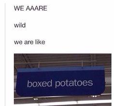 we are like boxed potatoes<<< CHOKING HELP XD