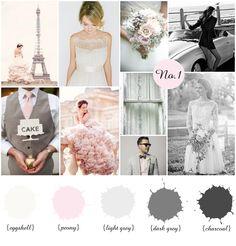 Color Board No.1: White, Pink, Grey