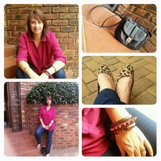 Casual day look : jeggings, leopard pumps