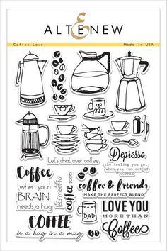 Coffee Love Stamp Set - Altenew   - 1