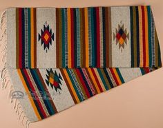"""Zapotec Indian Southwest Table Runner 15""""""""x80"""""""" (w)"""