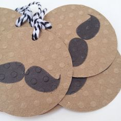 Items similar to Hand Stamped Black Moustache on Polka Dot Embossed Kraft Gift Tags wih Black and White Twine, set of 8 hang tags on Etsy Mustache Cards, Moustache, Kraft Paper, Paper Goods, Note Cards, Hand Stamped, Gift Tags, Card Stock, Polka Dot