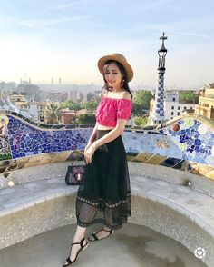 Park Guell, Barcelona, Spain | See Instagram photos and videos from A Fashion Blog By Tina Lee (@ofleatherandlace)