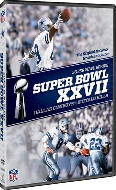 NFL SUPER BOWL XXVII (2013) DALLAS COWBOYS v BUFFALO BILLS NEW SEALED R1 DVD 56154fa36