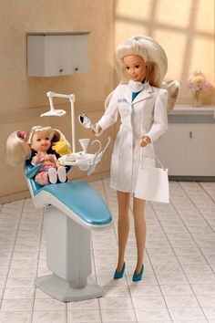 Barbie's Career and Jobs. Dentist Barbie. I had this one!! It came with everything you see in the picture. I wonder what ever happened to it.