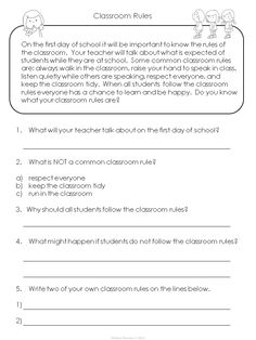 Free!  Enjoy using this freebie in your classroom during the first few weeks of school to reinforce classroom rules!