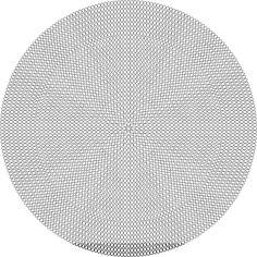 Blank pattern for a mochilla bottom.