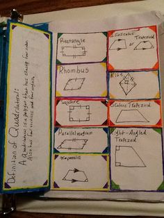 Journal Wizard: Quadrilaterals  - Foldables, Foldables, Foldables!!!