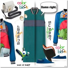 COLOR BLOCK, Jacket & Dress by deneve on Polyvore featuring polyvore, fashion, style, rag & bone, Mira Mikati, Chloé, Kyme, Chantal and clothing