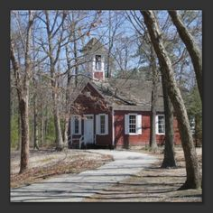 One Room Schoolhouse  Pretty little red one room school house. Beautiful Photograph taken by Amy Marie. Copyright Amy Marie.