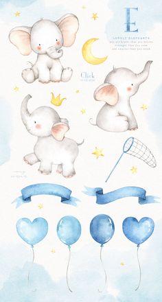 Lovely Elephants Watercolor Clip Art by everysunsun on Watercolor Bird, Watercolor Texture, Watercolor Animals, Elephant Watercolor, Watercolor Sketch, Watercolor Scenery, Watercolor Fashion, Watercolor Background, Illustration Mignonne